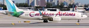 Caribbean Airlines panorama 300x94 - Caribbean Airlines Boeing 737-800