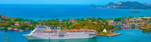 st lucia kryssning panorama 300x84 - The Port Or Cruise Dock At Saint Lucia Island At Caribbean Sea