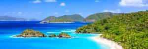 trunk bay st thomas panorama 300x100 - Trunk Bay on St John island. US Virgin Islands